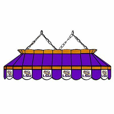 "NCAA LOUISIANA STATE LSU TIGERS 40"" Stained Glass Pool Table Light - NEW"