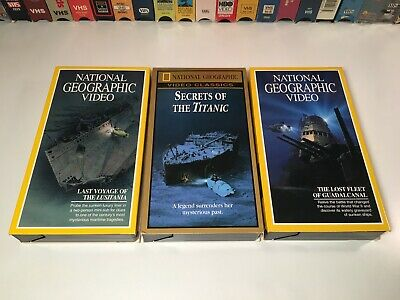 National Geographic Ship History Documentary VHS Lot of 2 Titanic Lusitania +