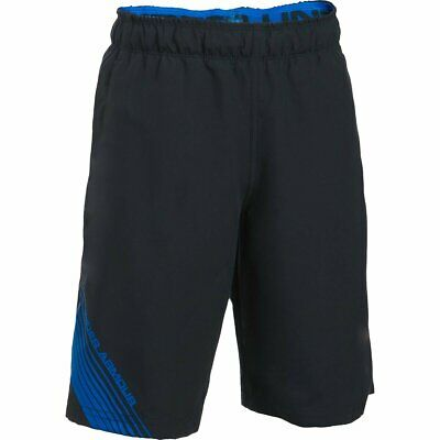 59d423f38c Under Armour Kids Boy's UA Mania Volley Shorts (Big Kids) Black/Ultra Blue