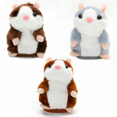 NEW Cute Talking Hamster Nod Mouse Record Chat Mimicry child Plush Toy Gift UK
