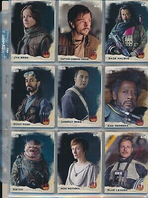 2016 Topps Star Wars Rogue One Card Set Of 90 In Pages