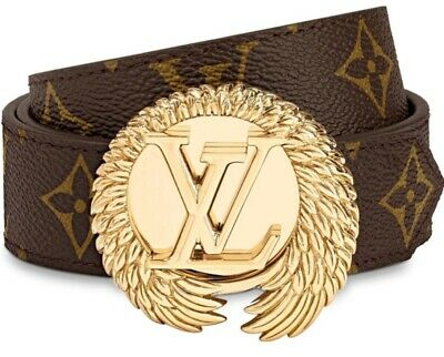 d5d03af872c7 Rare LOUIS VUITTON circle 30mm reversible belt monogram Size 80 cm sold out  NEW