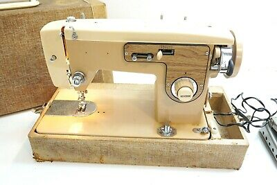 Vintage Hilton Zig Zag Stitcher 35315 Sewing Machine With Foot Pedal ~ Runs Read