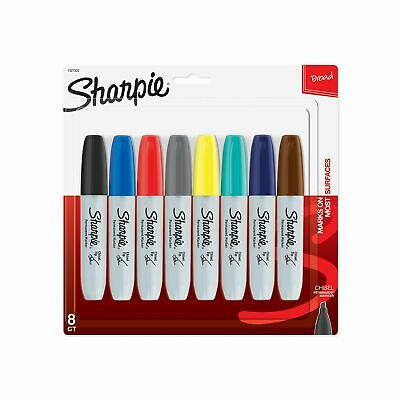 Sharpie Permanent Markers Broad Chisel Point Tip 8 Assorted Colors Colors Craft
