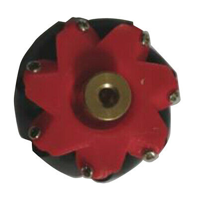 Omni Wheel Mecanum Wheels with Coupling Equipped with 3/4/5/6/7mm Red