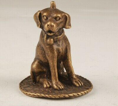 Unique Chinese Bronze Statue Animal Dog Collection Home Decoration Mascot