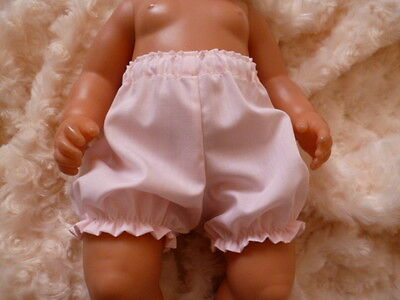 """BJB dolls clothes, Pink knickers pants fit 18"""" baby born annabel doll"""