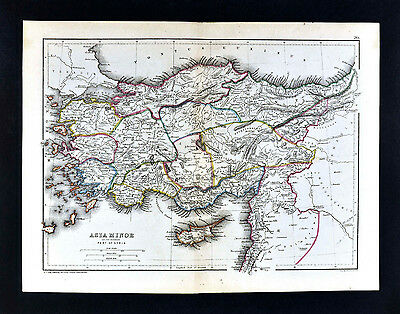 1871 Classical Map Ancient Asia Minor Hellenistic Greece Turkey Samos Miletus