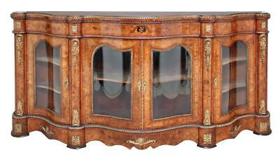 Large 19Th Century High Victorian Walnut And Marquetry Credenza