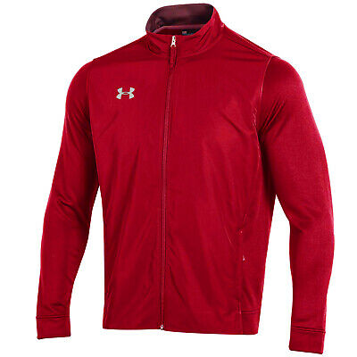 Under Armour Men's Red UA French Terry Loose Full Zip Jacket
