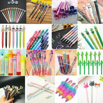 Colorful Ballpoint Writing Gel Pen Business Office School Stationery Tool Gift