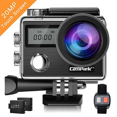 Action Cam Campark X20 HD 4K Sport Kamera Touchscreen WiFi 20MP Dual Wasserdicht