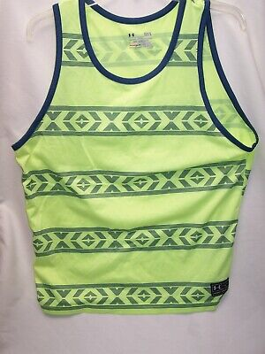 fb46f5858bcd9 Men s Under Armour HeatGear Sleeveless Loose Tank Muscle Shirt Neon RETRO  Large
