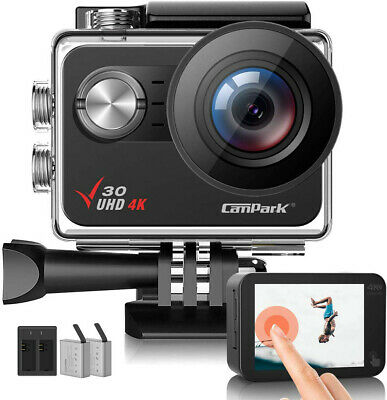 JEEMAK Action Sports Cam WIFI 4K Camera mit 2.4G Fernbedienung 16MP Helmkamera