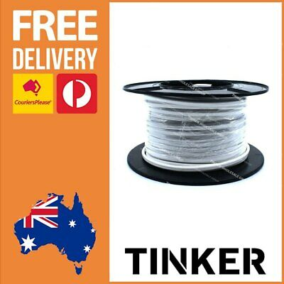 3mm Twin Core Cable 30m Roll Tinned Marine Auto Caravan Wire Aussie Made 10 Amp