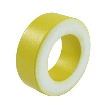 50pcs/set T50-26 Yellow White Ring Iron Ferrite Toroid Cores for Inductors