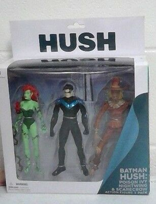 "BATMAN HUSH DC Direct Collectibles 7/"" inch Figures Ivy Nightwing Scarecrow 2013"