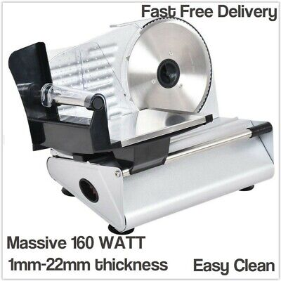 Meat Cutter Machine Electric Slicer Slice Cheese Bread Ham Salami Stainless Stee