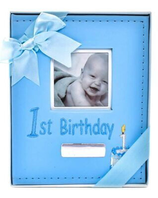 Baby Boy 1st birthday album (Blue)