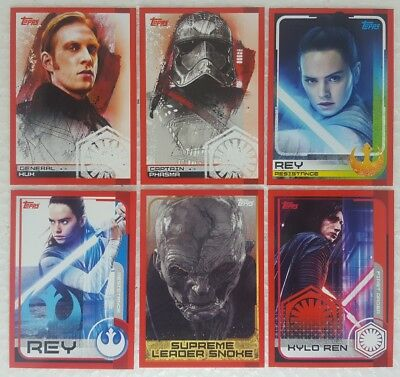 JOURNEY TO STAR WARS THE LAST JEDI Trading Card set of 160 topps UK