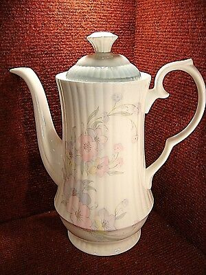 HAMMERSLEY / Worcester Spode Pink & Blue Floral 2 PINT Coffee Pot FREE UK POST