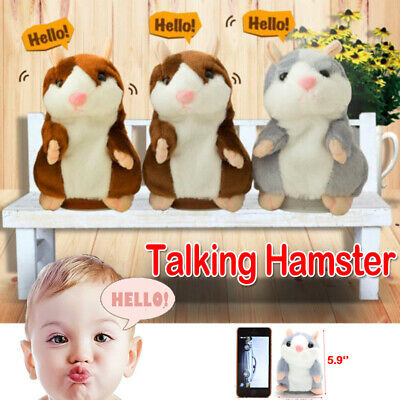 Cute Talking Nod Hamster Mouse Record Chat Mimicry Pet Plush Toy Gift New 2019