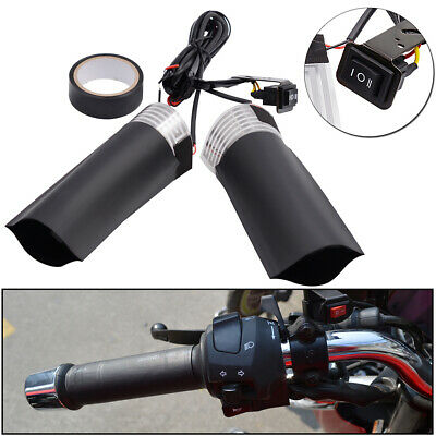 Motorcycle Heated Grips 12v 9.5CM Adjustable Hot Hand Motorbike Scooter ATV AU