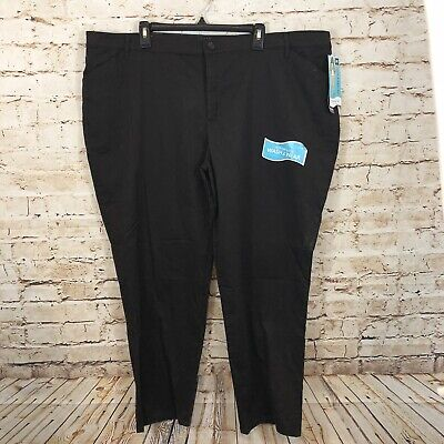 Lee brown pants womens 24W relaxed fit new straight leg stretch waist BO