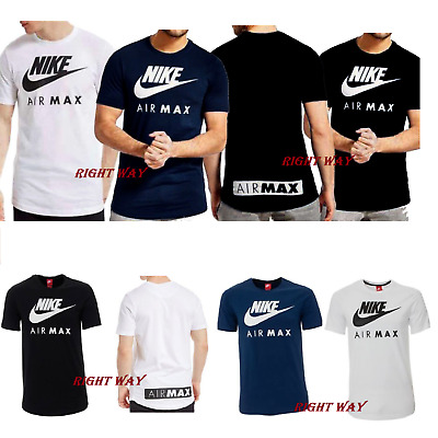 Mens Nike Air Max Crew Neck Short Sleeve T Shirt Cotton Sports Fitness Casual
