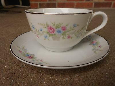 Florenteen FANTASIA Fine China COFFEE CUP and SAUCER JAPAN Mid Century