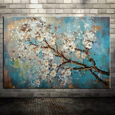 Hand Painted Flowers Tree Abstract Oil Painting Art Wall Picture Home Decor New