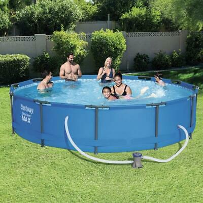 """Bestway 12ft x 30"""" Steel Frame Pro Max™ Pool Set with Pump Swimming Garden"""