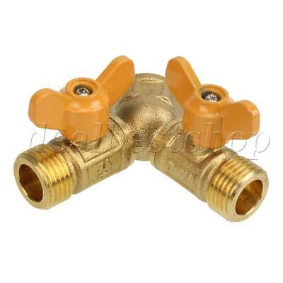 601 Steel 2 WAY Gas Pipe Connector Splitter Solid Brass Y Piece Joiner Connector