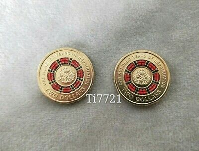 2× UNC 2019 $2 coin- One hundred years of Repatriation - Removed From Mint Bag