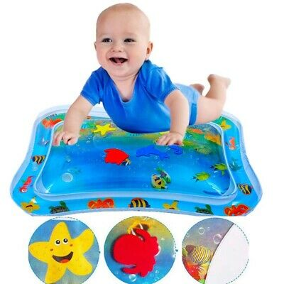 "Baby Water Play Mats Premium Tummy Time Inflatable Water Mat for Infants 26""X20"""