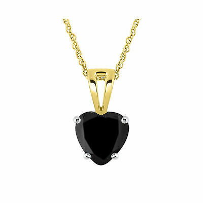 0.20 Ct Diamond Heart Pendant Necklace Sterling Silver 14K Yellow Gold Over