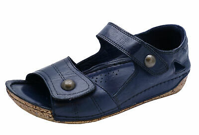 Ladies Cotswold Navy Leather Southam Slip-On Mules Summer Walking Sandals 3