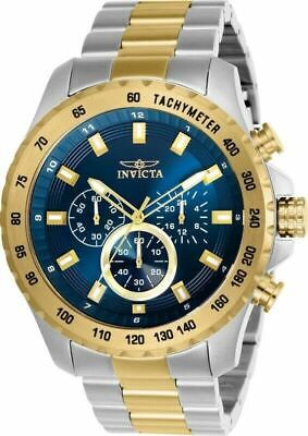 Invicta Speedway 24214 Men's Blue Dial Gold-Tone Stainless Chronograph Watch