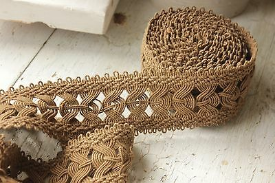 Trim Antique Passementerie French Textile 5.5 yards metallic hand woven 16 feet