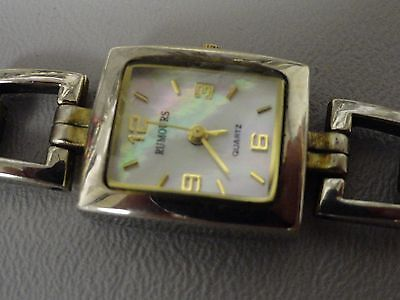"""Rumours ladies watch, Mother of Pearl face 6 1/4"""" band, square 3/4"""" wide Sharp"""