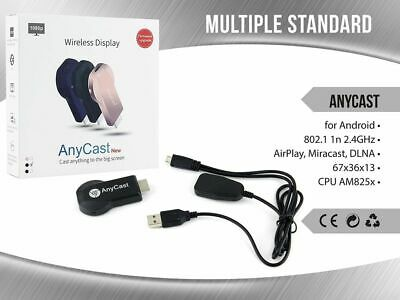 Chromecast Anycast Tv Miracast Hdmi Dongle Media Video Streamer Airplay Wifi mar