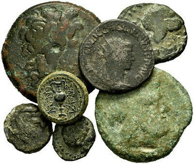 FORVM Lot of 7 Ancient Greek and Roman Coins - Wide Variety of Types