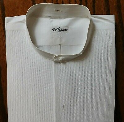 Starched Marcella tunic shirt collarless size 15 vintage Edwardian 1910s UNUSED