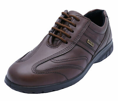 Ladies Cotswold Simbrook Leather Waterproof Brown Lace-Up Work Shoes 3-8