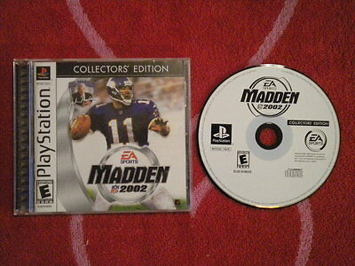 MADDEN 2002 COLLECTORS EDITION Sony PlayStation PS1 EA Sports NFL Football