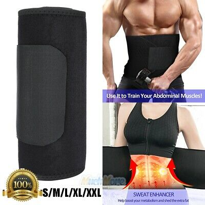 Men Waist Trimmer Belt Sweat Wrap Tummy Stomach Weight Loss Fat Burner Slimming