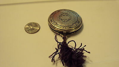 DJER KISS KERKOFF FRENCH COMPACT art deco victorian 1900 's WITH MIRROR