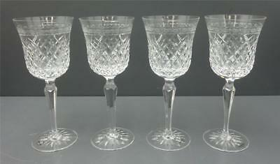 "Lot 4 Wedgwood Cut Crystal Cheslyn 9"" Water Wine Goblets"