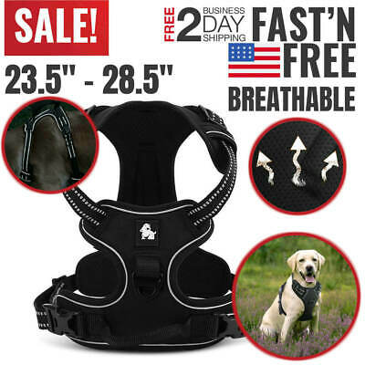 Large Dog Harness No Pull Vest Belt for Small Medium Pet Adjustable Reflective