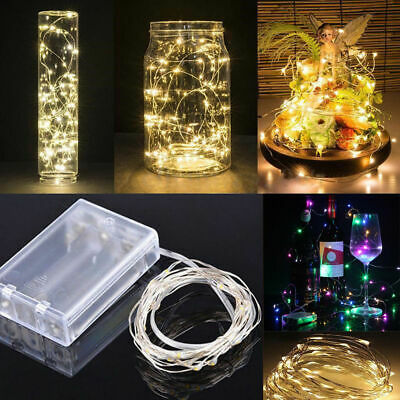 20/30/50 LED Battery Micro Rice Wire Copper Fairy String Lights Party RGB White